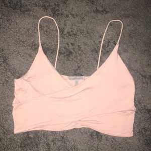Charlotte Russe cross over crop top-size Medium